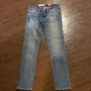Anthropologie straight leg boyfriend style jeans